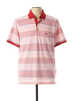 Polo manches courtes rouge MONTE CARLO pour homme