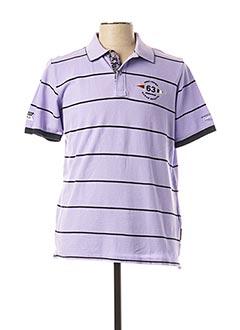 Polo manches courtes violet MONTE CARLO pour homme