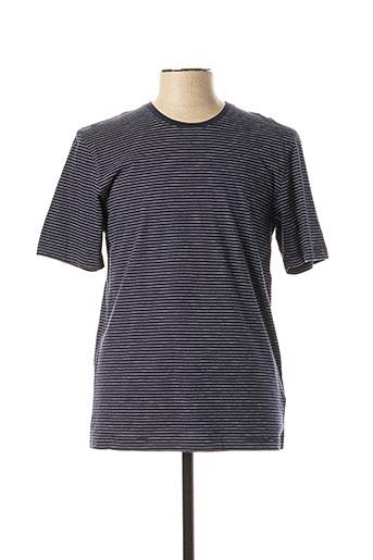 T-shirt manches courtes bleu FYNCH-HATTON pour homme
