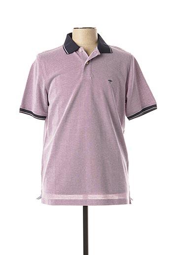 Polo manches courtes violet FYNCH-HATTON pour homme