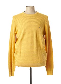Pull col rond jaune FYNCH-HATTON pour homme