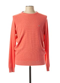 Pull col rond orange FYNCH-HATTON pour homme