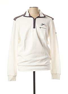 Sweat-shirt blanc MONTE CARLO pour homme