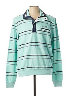 Sweat-shirt vert MONTE CARLO pour homme