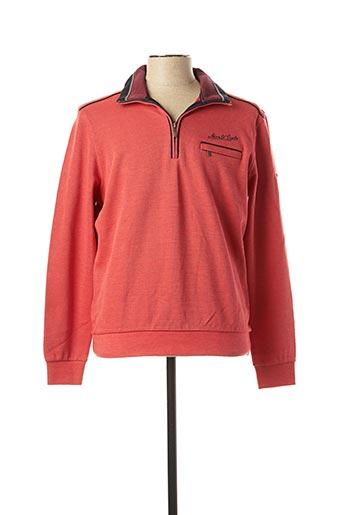 Sweat-shirt rouge MONTE CARLO pour homme