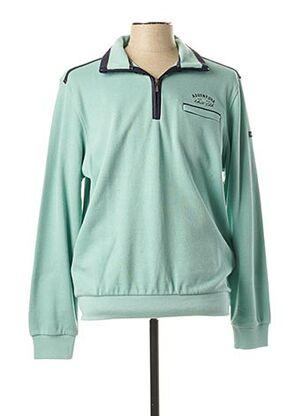 Pull col cheminée vert MONTE CARLO pour homme