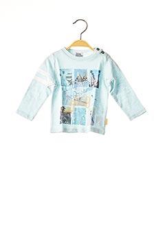 T-shirt manches longues bleu NANO & NANETTE pour garçon