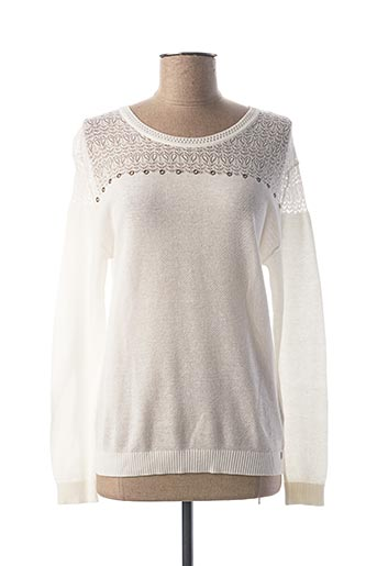Pull col rond blanc IKKS pour femme