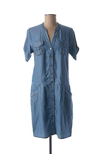 Robe mi-longue bleu ONE STEP pour femme