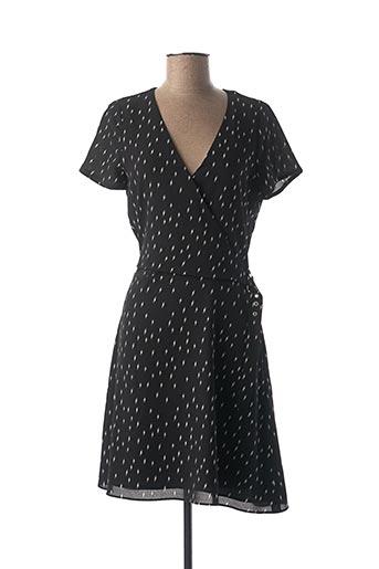 Robe mi-longue noir IKKS pour femme