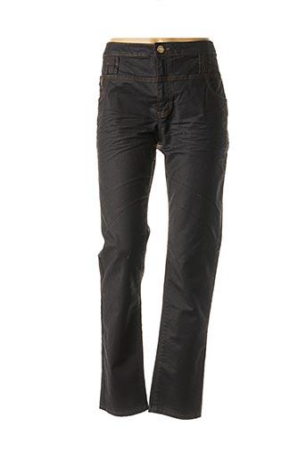 Jeans coupe droite noir MEGAN PARIS pour femme