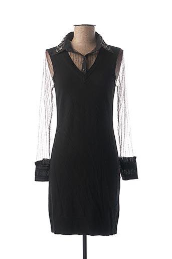Robe pull noir ESQUALO pour femme
