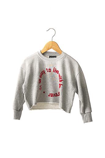 Sweat-shirt gris PLEASE pour fille