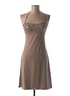 Robe courte beige GENIUS pour femme