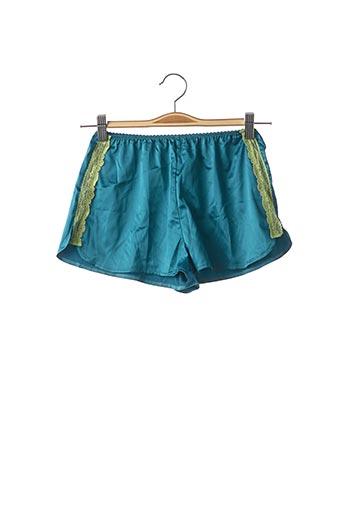 Pyjashort bleu MISS VV pour femme