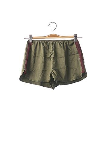 Pyjashort vert MISS VV pour femme