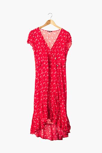 Robe longue rouge BONOBO JEANS pour femme