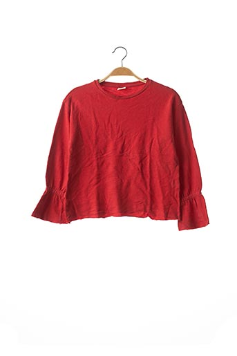 Pull col rond rouge ZARA pour fille
