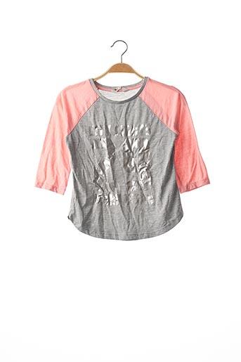 T-shirt manches longues gris H&M pour fille