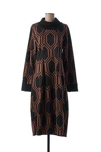 Robe pull noir LA FEE MARABOUTEE pour femme