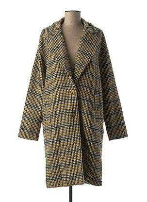 Manteau long jaune LA FEE MARABOUTEE pour femme