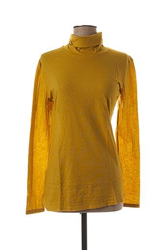 Sous-pull jaune LA FEE MARABOUTEE pour femme