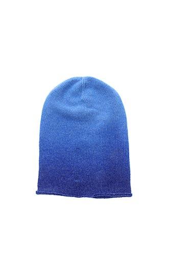 Bonnet bleu LA FEE MARABOUTEE pour femme