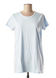 T-shirt manches courtes bleu ALLUDE pour femme