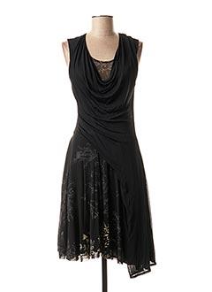 Robe mi-longue noir FUZZI pour femme