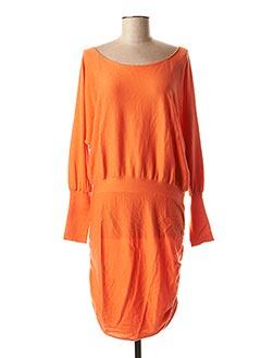Robe pull orange ALLUDE pour femme