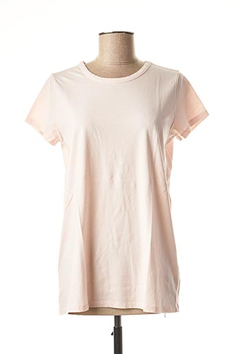 T-shirt manches courtes rose ALLUDE pour femme