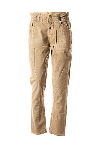 Pantalon casual beige HIGH pour femme