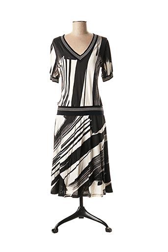 Robe mi-longue noir ECRU pour femme