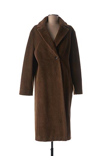 Manteau long marron CINZIA ROCCA pour femme