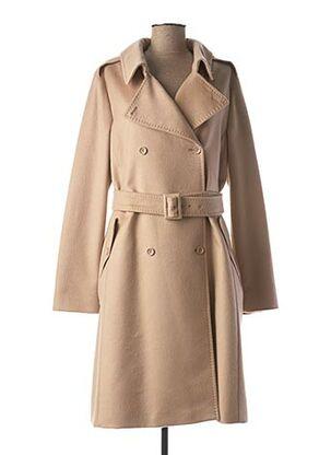 Manteau long beige MAXMARA pour femme