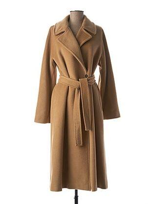 Manteau long marron MARELLA pour femme