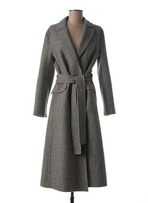 Manteau long noir MAXMARA pour femme