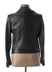 Veste en cuir noir MONTANA pour femme seconde vue