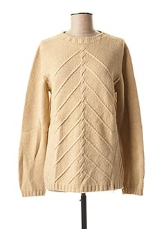 Pull col rond beige MARELLA pour femme