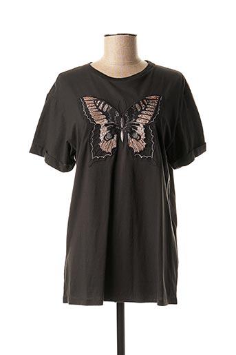 T-shirt manches courtes gris TWINSET pour femme