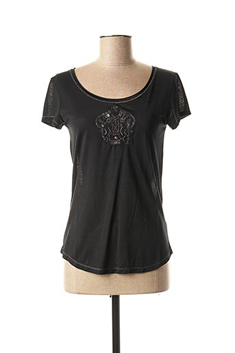 T-shirt manches courtes noir MARITHE & FRANCOIS GIRBAUD pour femme