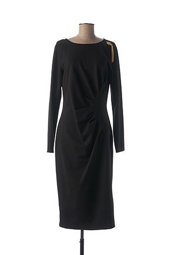 Robe mi-longue noir CAVALLI pour femme
