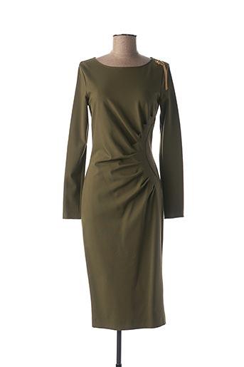 Robe mi-longue vert CAVALLI pour femme