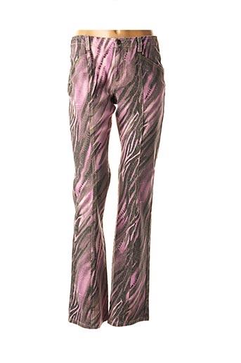 Pantalon casual rose ANGELO MARANI pour femme
