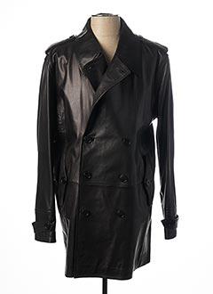 Veste en cuir noir FERAUD pour homme