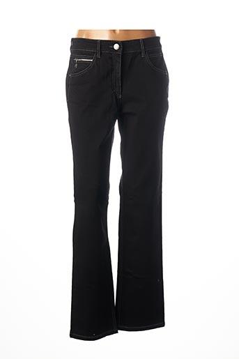 Jeans coupe droite noir ZERRES pour femme