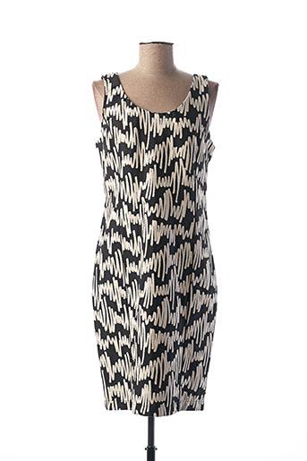Robe mi-longue noir ELEONORA AMADEI pour femme