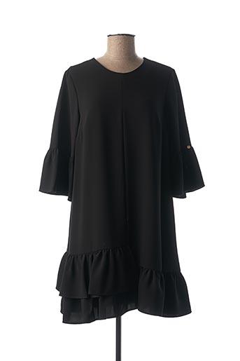 Tunique manches longues noir CRISTINA BARROS pour femme