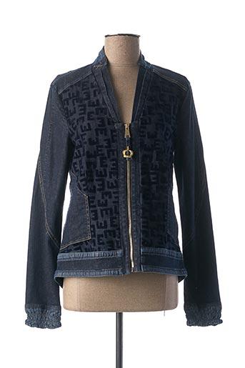 Veste en jean bleu ELISA CAVALETTI pour femme