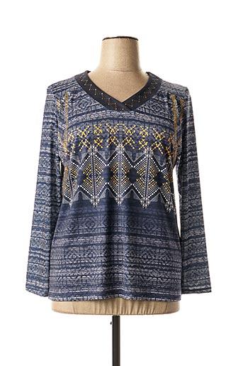 T-shirt manches longues bleu DIANE LAURY pour femme